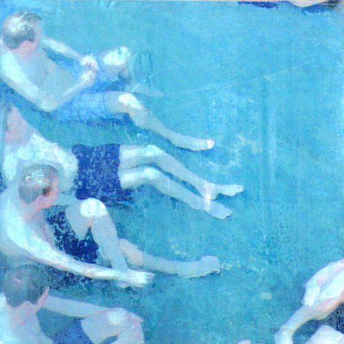 Nichtschwimmer III, 15x15cm, Collage, 2015