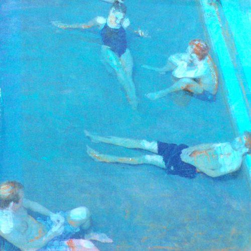 Nichtschwimmer I, 15x15cm, Collage, 2015