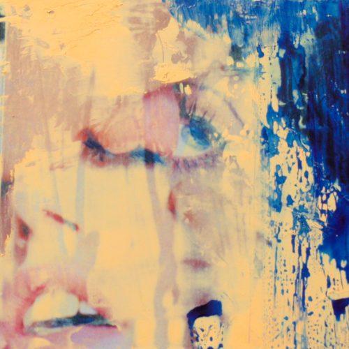 der Kuss 1, 15x15cm, Collage, Öl, 2015