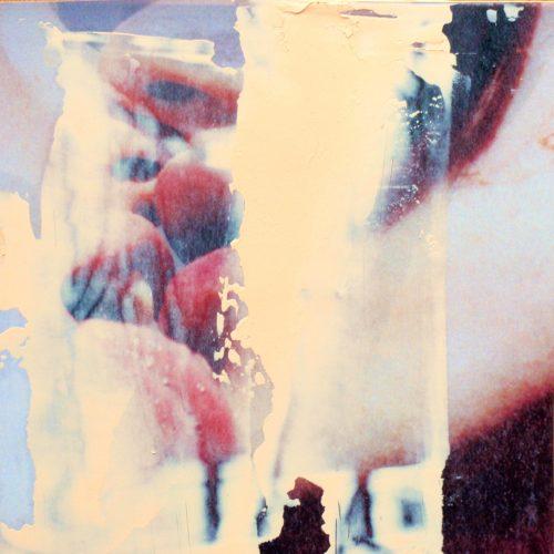 der Kuss 2, 15x15cm, Collage, Öl, 2015