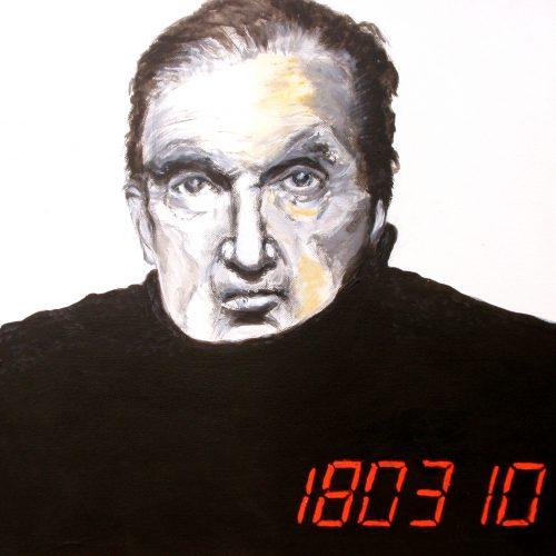 Francis Bacon, 50x50cm, Acryl auf Leinwand, 2010
