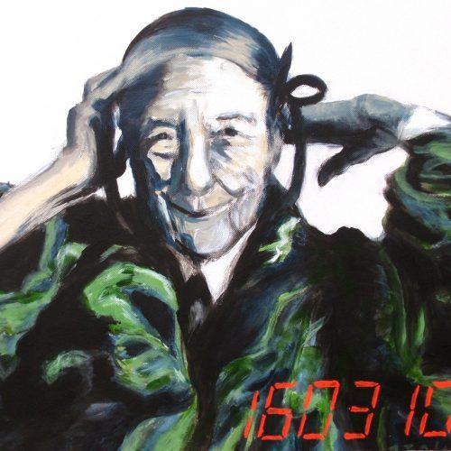 Louise Bourgeois, 50x50cm, Acryl auf Leinwand, 2010