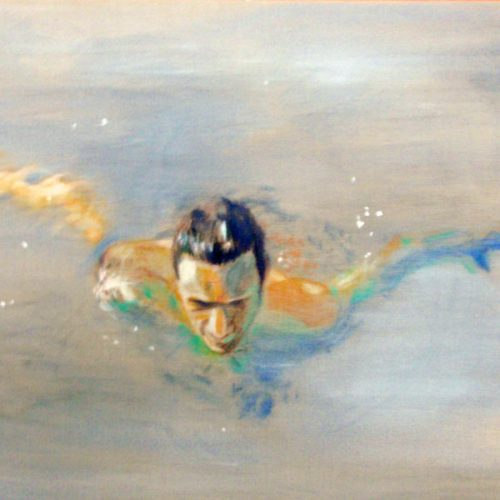 The Water Near my Fingers, 74x109cm, Acryl, Pastellkreide auf Leinwand, 2013