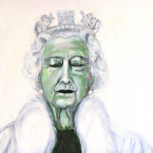 Queen Elizabeth II, 50x50cm, Acryl auf Leinwand, 2011