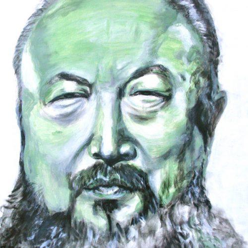 Ai Weiwei, 50x50cm, Acryl auf Leinwand, 2011