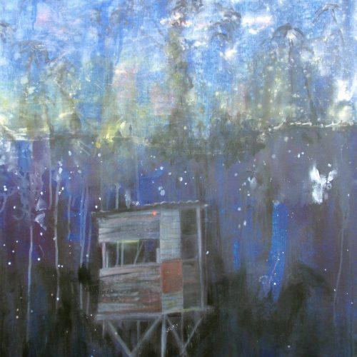 Into the Deep, 120x90cm, Acryl, Pastellkreide auf Leinwand, 2015