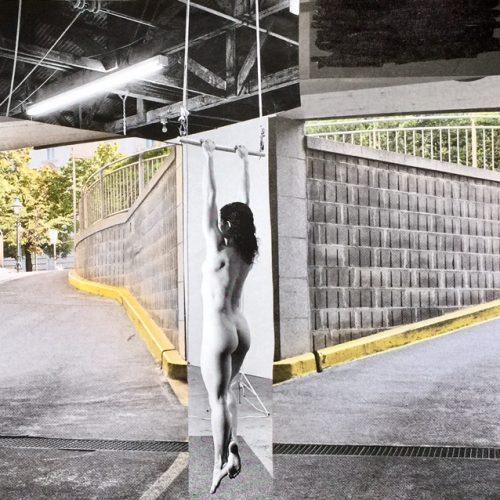 Waiting, 15x15cm, Collage, 2016