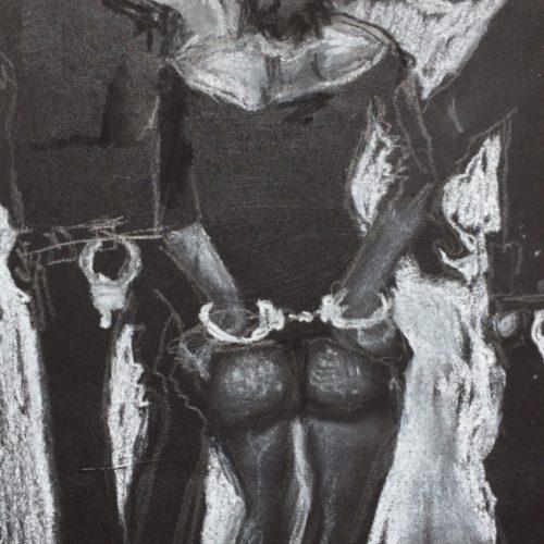 o.T., 15x15cm, Pastellkreide, 2016