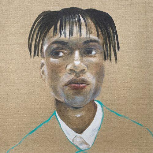 Max, 60x54cm, Acryl auf Leinwand, 2020