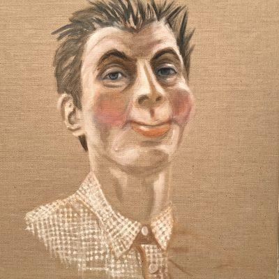 Igel, 60x54cm, Acryl auf Leinwand, 2020