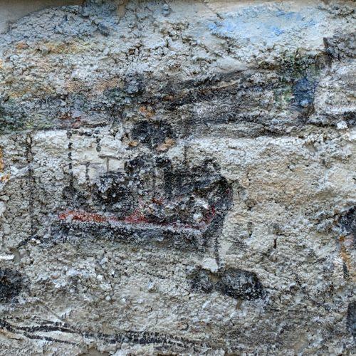 Concrete EG01, 50x60cm, Acryl auf Beton/Leinwand, 2019